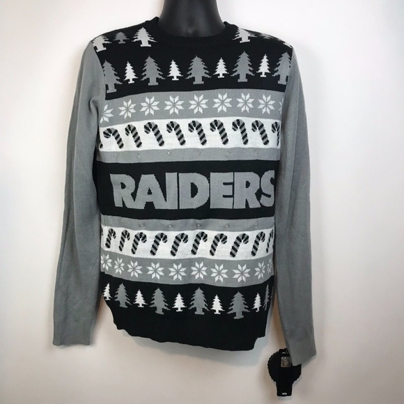 best sneakers 3e057 4f230 NFL Raiders Light Up Ugly Christmas Sweater NWT
